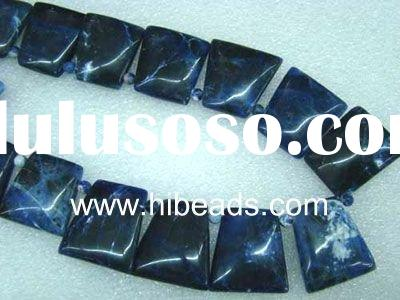 Natural Agate Gemstone Beads Trapezoid Shaped AGB0006