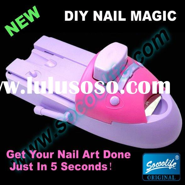New hot sale diy nail magic polish machine,nail art coloring device