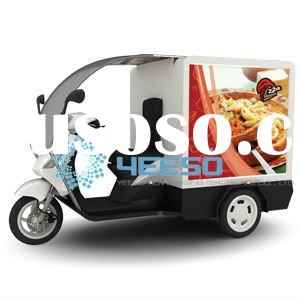 Outdoor Mobile Advertising Billboard on tricycle/trike/scooter for Ice Cream, Pizza, Bread,Milk,Food