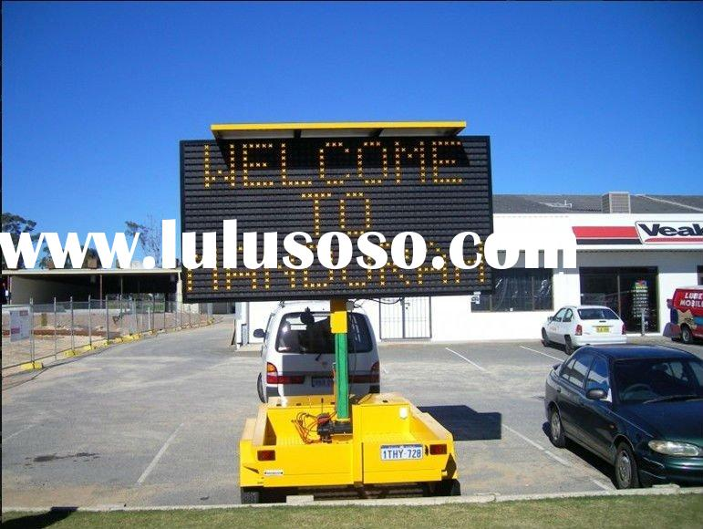 P12 outdoor mobile solar traffic led trailer sign billboard latest hot/new technology products
