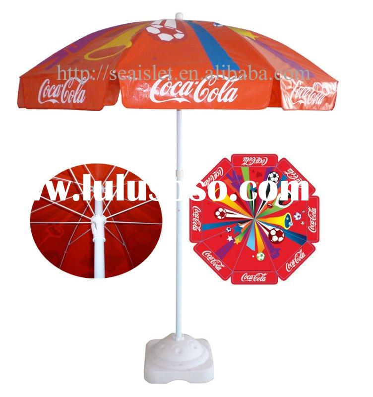 PVC beach umbrella with full color printing
