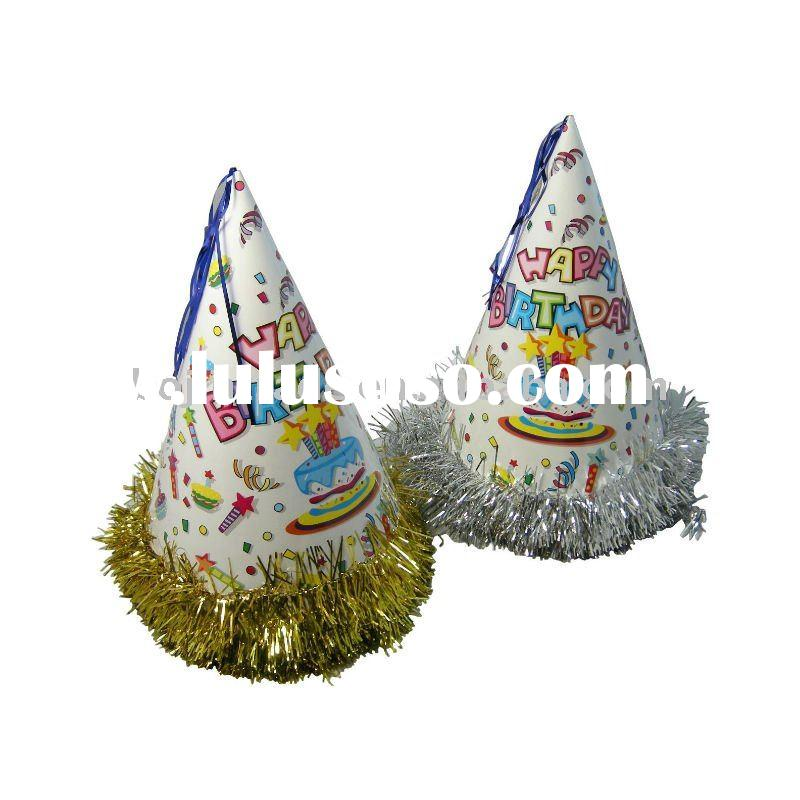 Paper Birthday Party Hat With Glitter