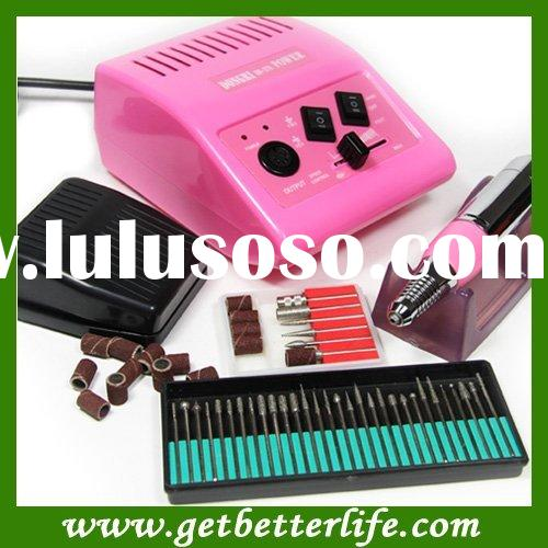 Pink 278 Electric Nail Manicure Pedicure Drill File Tool Kit 12V