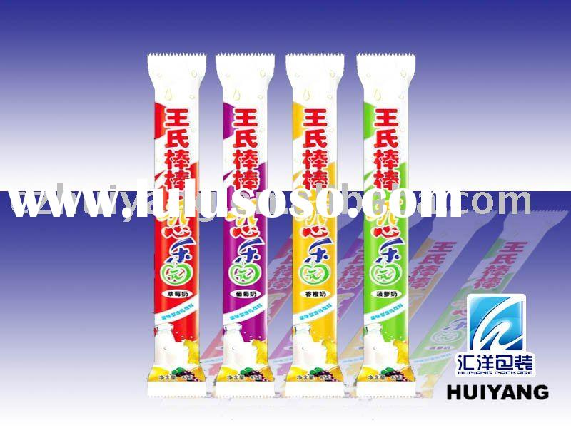 Plastic popsicle packaging bags design with top quality