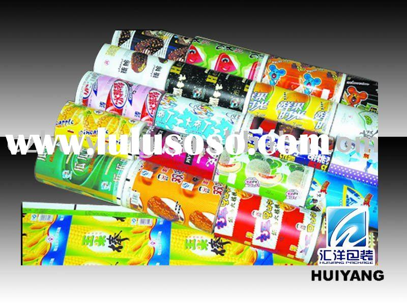 Plastic printed roll film for cool ice cream packaging pouch