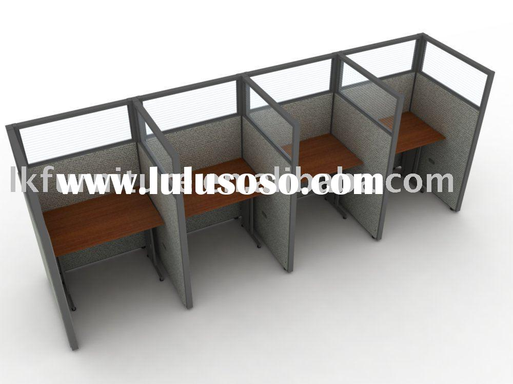 Popular office call center furniture with partition panels