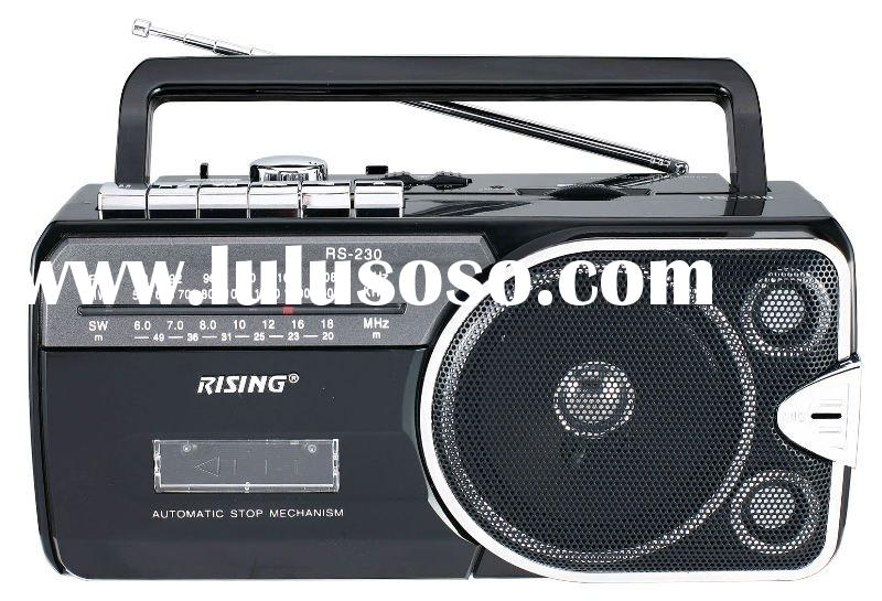 Portable Radio Cassette Recorder with USB SD/MMC Card Reader
