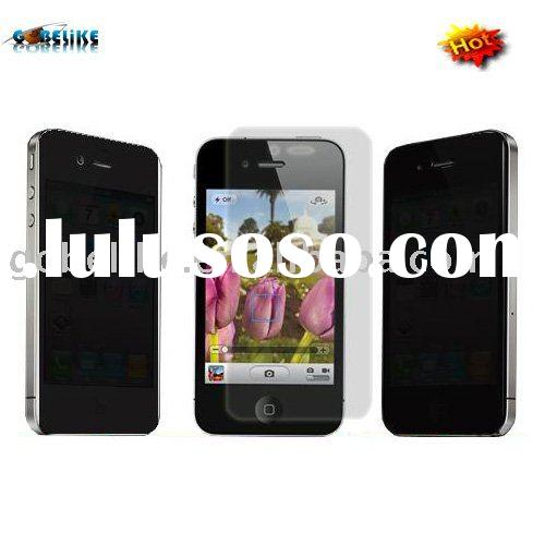 Privacy screen protector for iphone 4g;Mirror screen protector for cell phone;Anti-glare screen prot