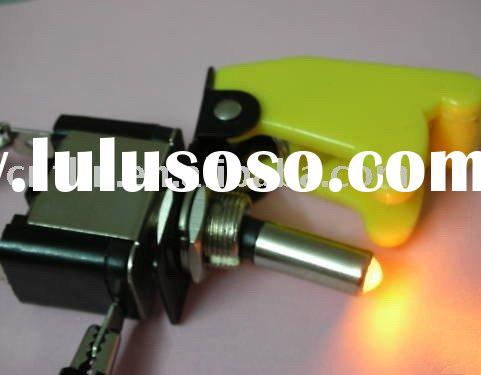 Racing Car Illuminated Toggle Switch + Safety Flip Cover/guard