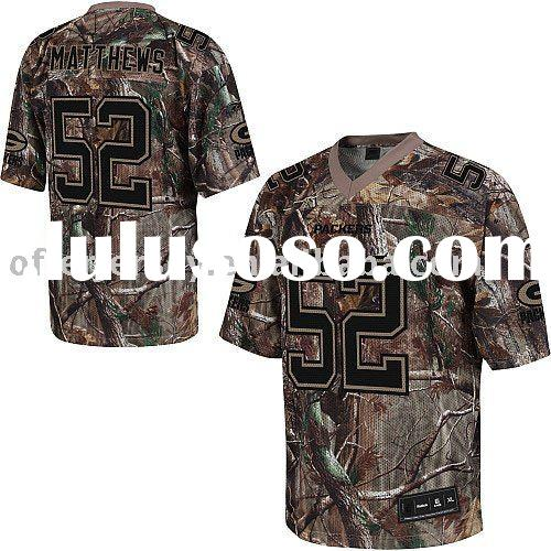 Realtree Jerseys Green Bay Packers #52 Clay Matthews FOOTBALL Camo Authentic Jersey 48-60 Drop Shipp