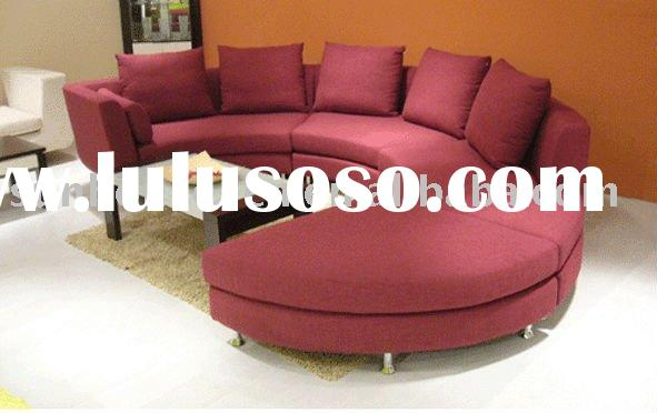 Red Modern Round Fabric Sofa Set SH-SF03006