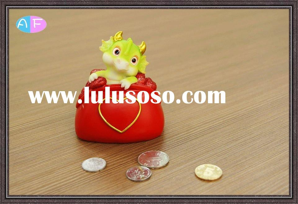 Resin Dragon Money Box for Valentine's Day Decoration