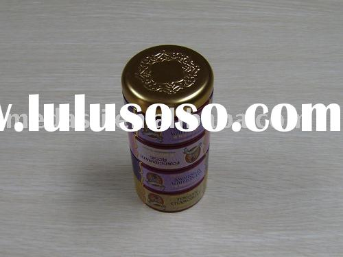 Round 3 layers movable cylinder tea/chocolate/biscuit/gift tin can(#KK1059) Dia.72 x 145 mm
