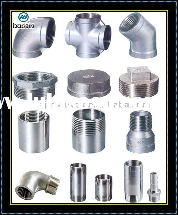 Screwed stainless steel Pipe Fitting factory Manufacturer