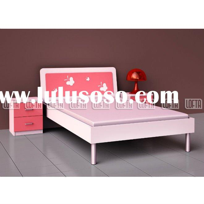 Shenzhen factory Kids bed room furniture prince room with double bed and night stand