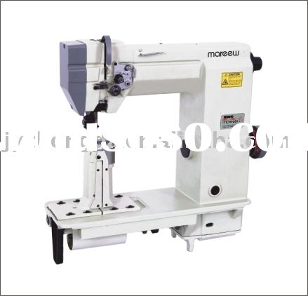 Single/double needle post bed sewing machine