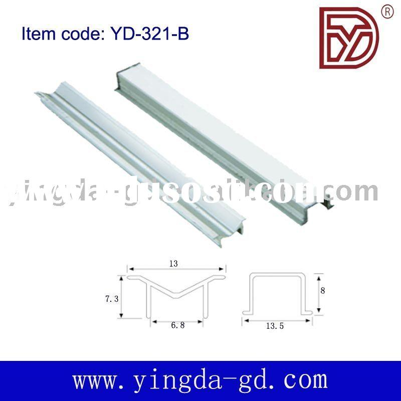 Sliding door glide/track, Aluminum rail for guide door gear