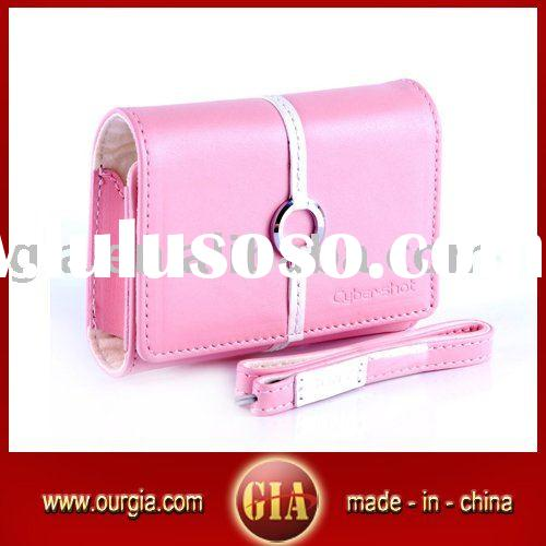 Soft Leather Camera Carrying Case for Sony--Pink