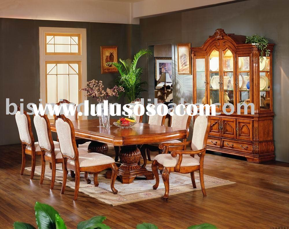 Solid wood and hand carving American dining room furniture,dining table,arm chair,dining chair,wine