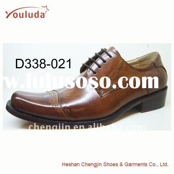 Spanish leather shoes made by genuine leather D338-021