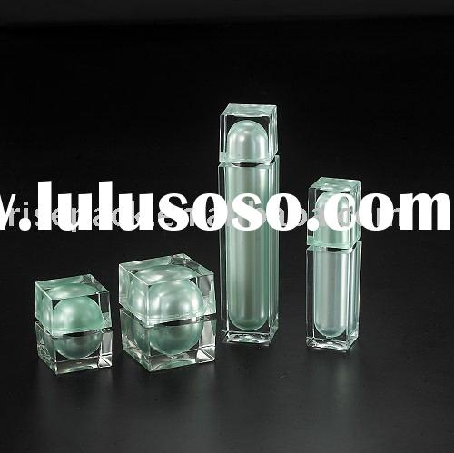 Square Outer and Round Inner Luxury Acrylic jars for cosmetic packing