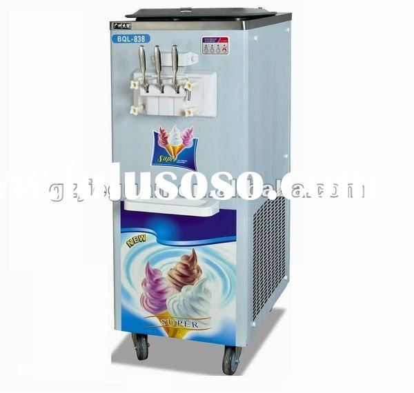 Stainless Steel Soft Ice Cream Machine with 3 Flavours BQL-838