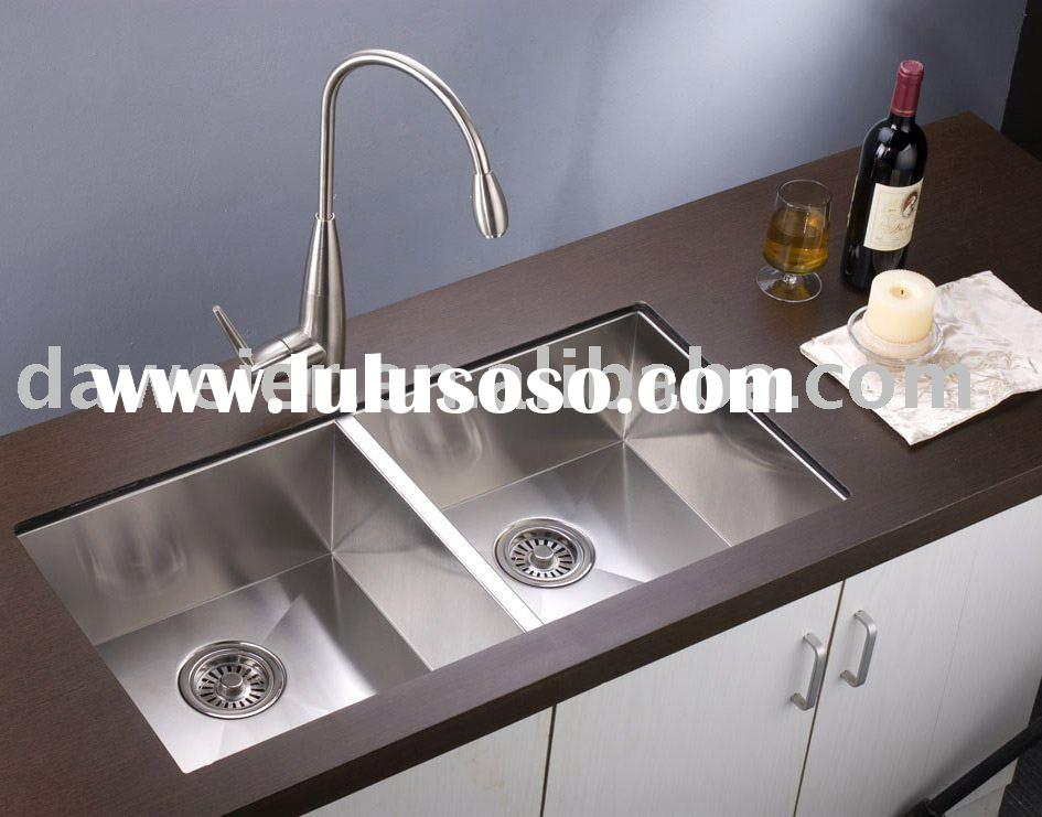 Stainless Steel Square Double bowl Kitchen Sink-F8138