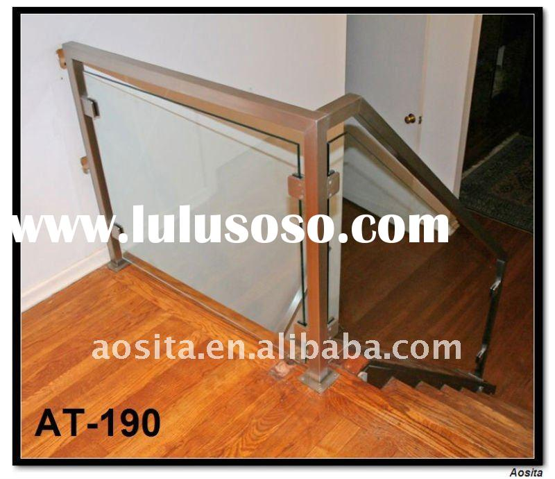 Stainless steel and glass modern handrail designs