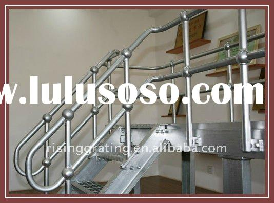 Steel Stanchion with guardrail