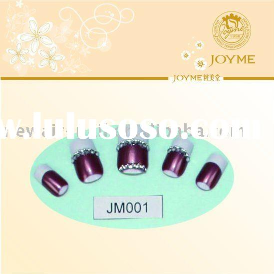 Swaroski crystals decorate the beauty nail art tip