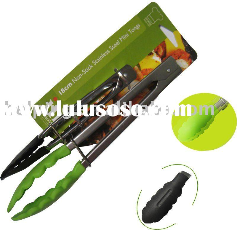 The kitchenware stainless steel utensils silicone &nylon tong sets