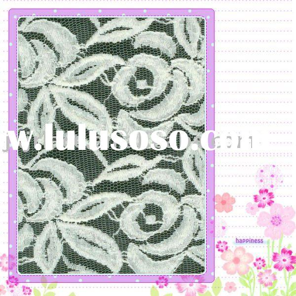 Thick all over cotton lace fabric