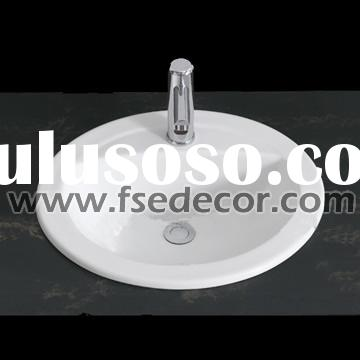 Top Mount Small Porcelain Sink
