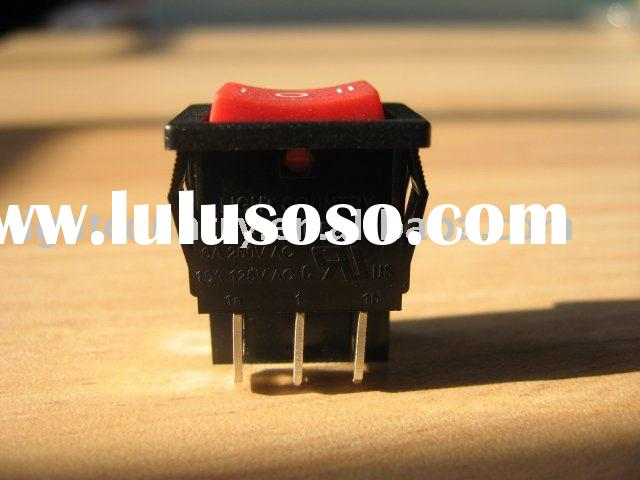 UL Momentary boat like switch/double pole double throw rocker switch