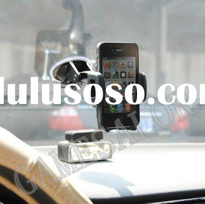 UNIVERSAL 360 degree CAR MOUNT HOLDER CRADLE FOR CELL PHONE PDA IPHONE 4 TOUCH 4TH GPS # 8204