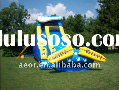 Used Commercial Inflatable Wipeout Water Slide Moonwalk Bounce House Party Jump