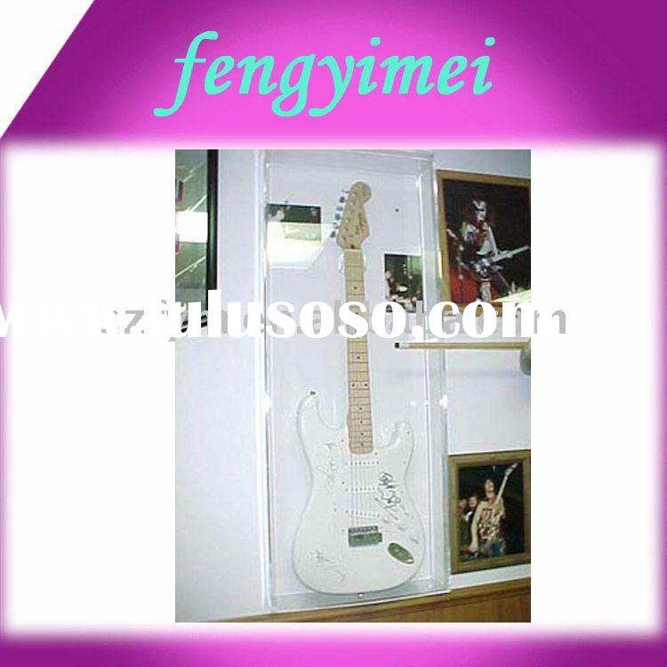Wall mounted guitar acrylic display box /perspex guitar display case/plexiglass guitar display case