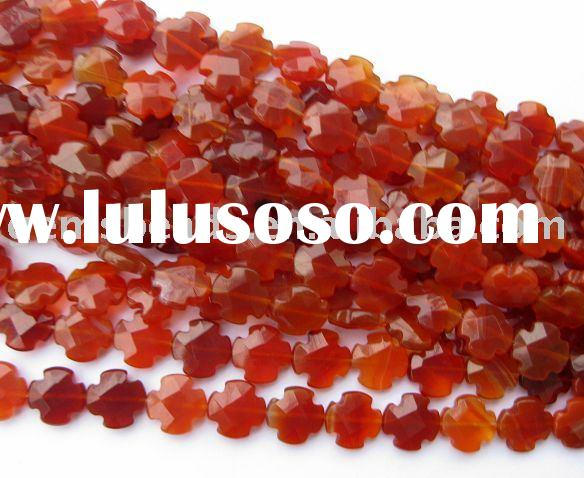 Wholesale loose strand gemstone cross beads for jewelry