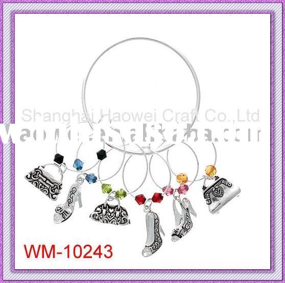 Wine bottle Charm;(for lady,high-heel shoes,handbags)