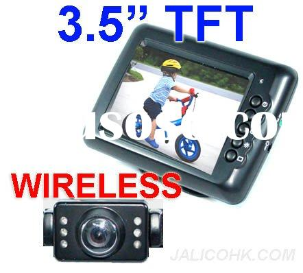 Wireless Car Rear View License Plate Mounted Camera System with LCD Monitor