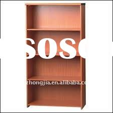 Wood-grain teak bookcase design