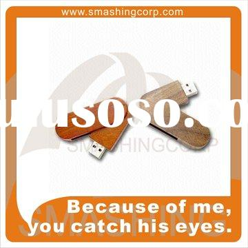 Wooden promotional usb drives, bamboo material available