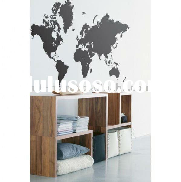 World Map - Wall Decals, French Home Decor, High Quality Wall Stickers