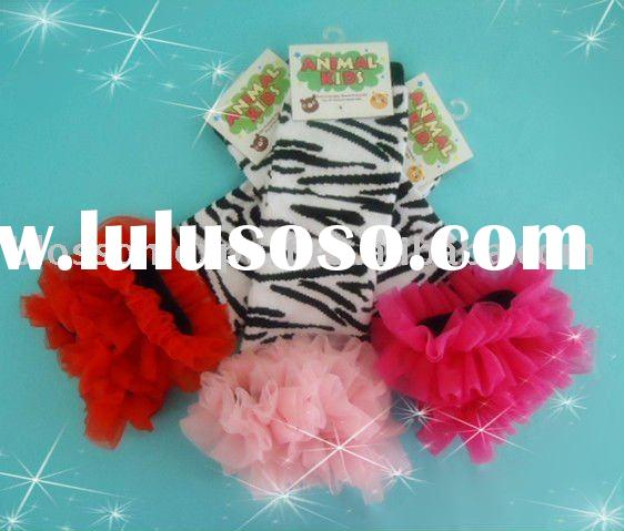 Zebra baby leg warmers with ruffle