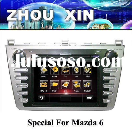 (MAZDA6) 7 inch Two DIN Car DVD Player with GPS, bluetooth
