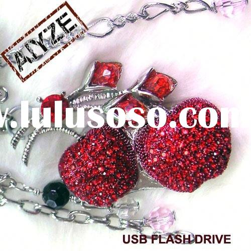 """latest red apple shape jewelry usb memory(paypal)"
