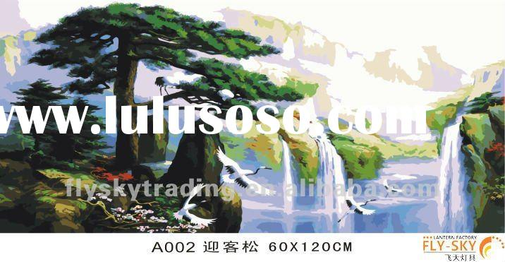 abstract landscape diy digital oil painting by numbers kits for wall art picture