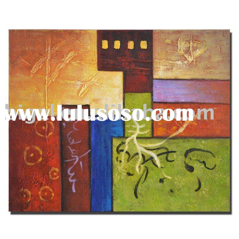 abstract oil art painting