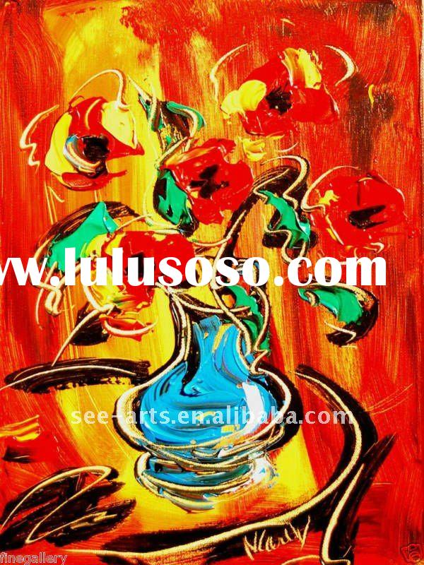 abstract oil painting pictures of flowers