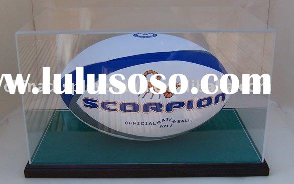 acrylic Rugby Ball Display Cases